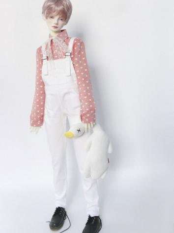 1/3 1/4 70cm White Suspender Trousers Pants A234 for MSD/SD/70cm Size Ball-jointed Doll
