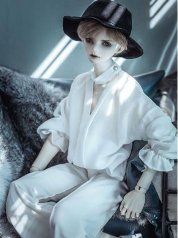 1/3 1/4 70cm Clothes White/Black Shirt A235 for MSD/SD/70cm Size Ball-jointed Doll