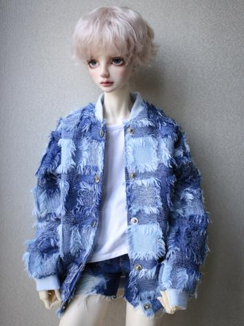 1/3 1/4 70cm Clothes Blue Coat A237 for MSD/SD/70cm Size Ball-jointed Doll