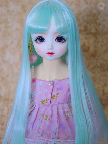 BJD Wig Girl Mint/Pink Hair Wig for SD/MSD/YOSD Size Ball-jointed Doll