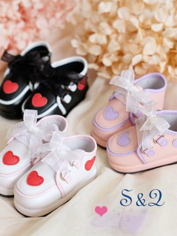 Bjd Girl/Boy Pink/White/Black Shoes for MSD Ball-jointed Doll
