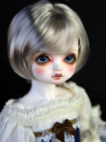 BJD Wig Girl Silver/Gold/Chocolate/Beige Bobo Hair for SD/MSD/YSD Size Ball-jointed Doll