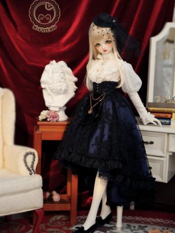 1/3 DD Clothes Girl Blue Dr...