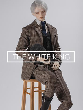 Bjd Clothes Rc70-82--Suit version of White King Outfit Suit for 70cm Ball-jointed Doll