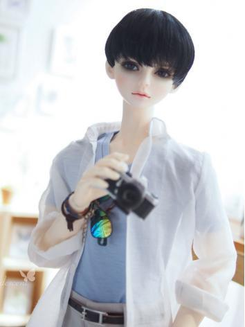 BJD Clothes Boy White Shirt Suit for 65cm/70cm Ball-jointed Doll