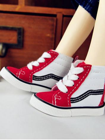 BJD Boy Shoes Red Sports Shoes for SD13/MSD Ball-jointed Doll