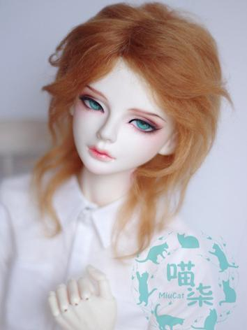 BJD Wig Boy Light Brown Hair for SD Size Ball-jointed Doll