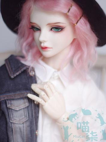 BJD Wig Boy Light Pink Hair for SD Size Ball-jointed Doll
