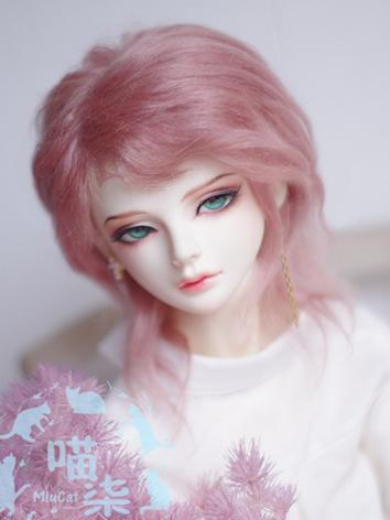 BJD Wig Boy Dark Pink Hair for SD Size Ball-jointed Doll