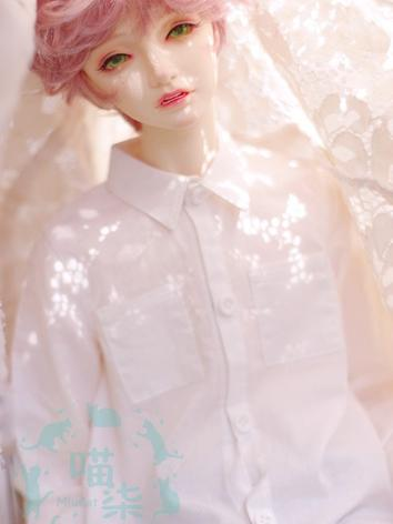 BJD Clothes Boy White Shirt for MSD/SD13/SD17 Ball-jointed Doll