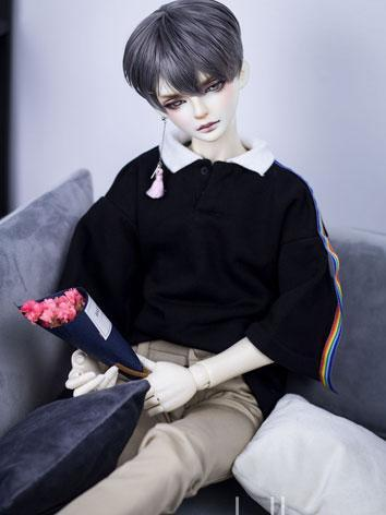 BJD Clothes Boy Black/Red T-shirt for SD17/70cm Ball-jointed Doll