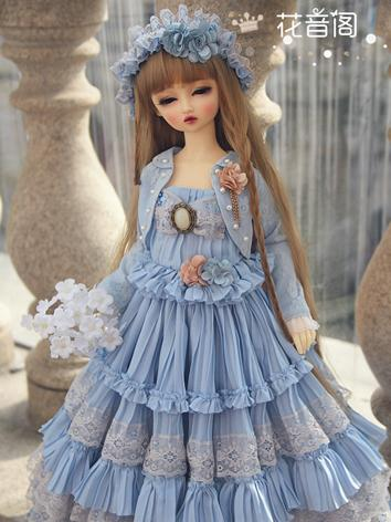 BJD Clothes Girl Blue Long ...