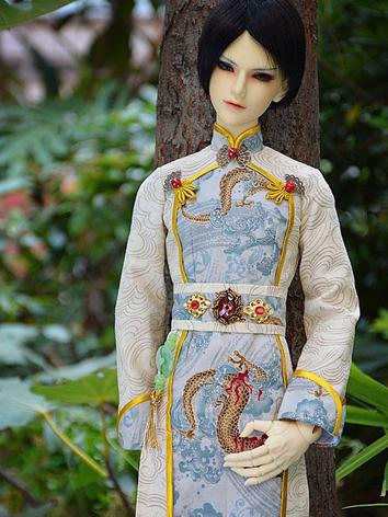 Custom-sized Clothes Boy Dragon Printed Suit for MSD/SD/DD/65CM/70CM/75CM Ball-jointed Doll