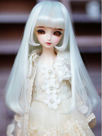 BJD Wig Girl Light Mint Lon...