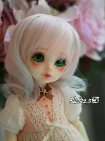 BJD Wig Girl Pink Curly Hai...