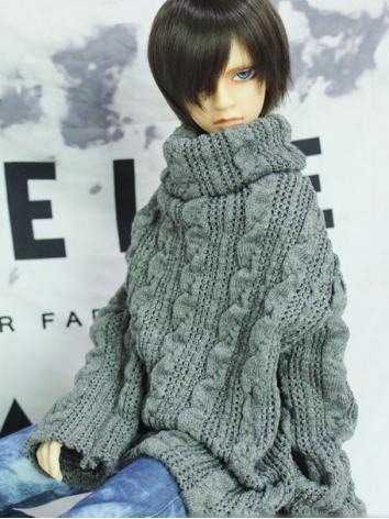 BJD Clothes Boy/Girl Gray H...