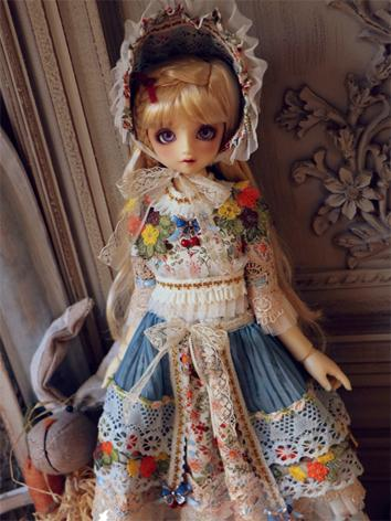 BJD Clothes Girl Printed La...