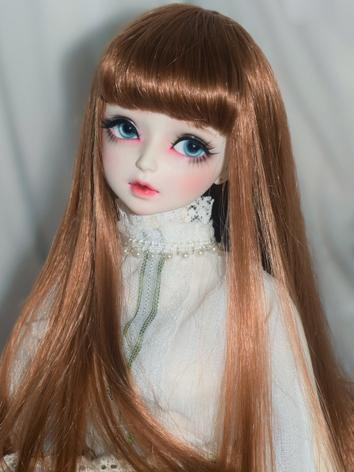 BJD Wig Girl Brown/Black/Br...