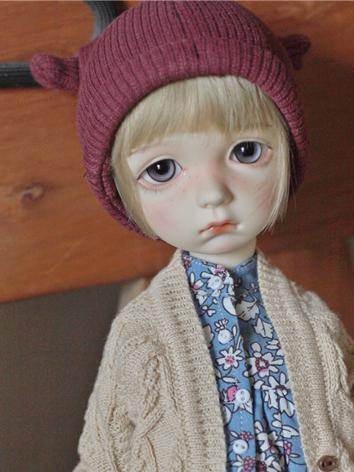 Bjd Boys/Girls Green/Red/Gray/Purple/Pink Hat for SD/MSD Ball-jointed Doll