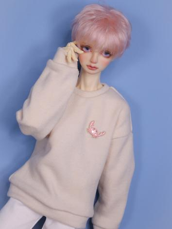 1/3 1/4 70cm Clothes Beige/Red Sweater for MSD/SD/70cm Size Ball-jointed Doll