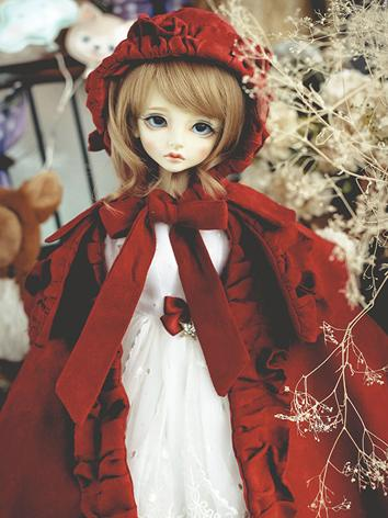 1/4 Clothes Girl Red Suit for MSD Ball-jointed Doll