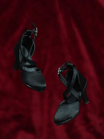 Bjd Shoes 1/3 Girl Black/Bl...