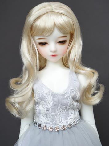 1/3 1/4 Wig Girl Light Gold Long Hair Wig for SD/MSD Size Ball-jointed Doll