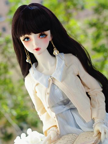 BJD Wig Girl Wine/Black/Light Gold Long Curly Hair for SD/MSD/YOSD Size Ball-jointed Doll