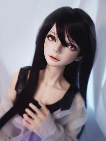 BJD Wig Girl Pink/Black/Lig...