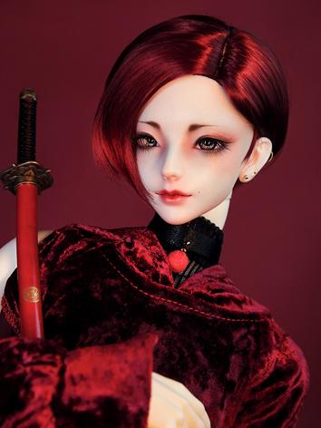 BJD Wig Boy Wine/Black/Brow...