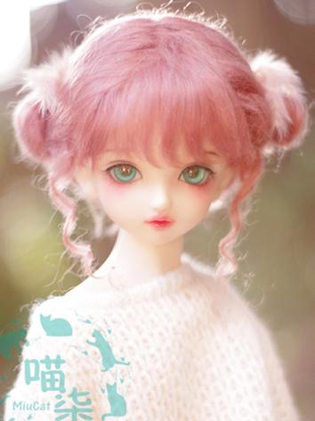 BJD Wig Girl Pink Hair for SD/MSD/YSD Size Ball-jointed Doll