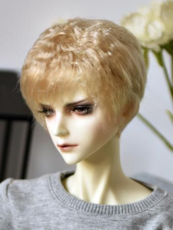 BJD Wig Boy Silver/Gold/Chocolate Short Hair for SD/MSD/YSD Size Ball-jointed Doll