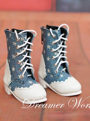 BJD Shoes Female Jean Boots Shoes for SD/MSD Ball-jointed Doll