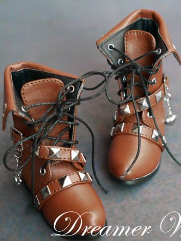 BJD Shoes Boy/Girl Brown Pu...