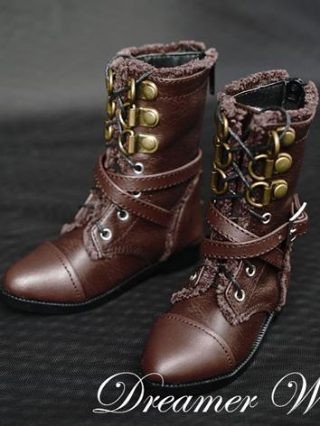 BJD Shoes Boy Chocolate Retro Boots Shoes for SD Ball-jointed Doll
