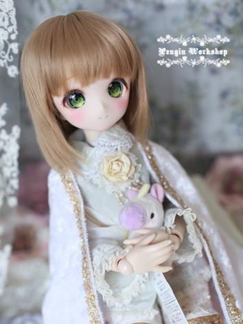 BJD Girl Wig Light Gold/Brown Hair 1/3 Wig for SD Size Ball-jointed Doll