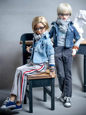 BJD Clothes Boy/Girl 1/4 size Modern Suit for MSD Ball-jointed Doll