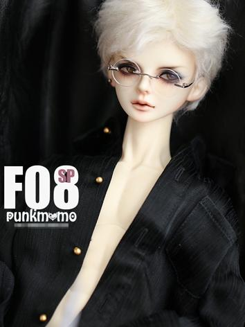 BJD Wig 8-9inch Boy White Short Hair F08sp for SD Size Ball-jointed Doll