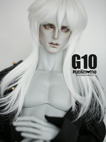 BJD Wig 8-9inch Boy Wig White Long Hair G10 for SD Size Ball-jointed Doll