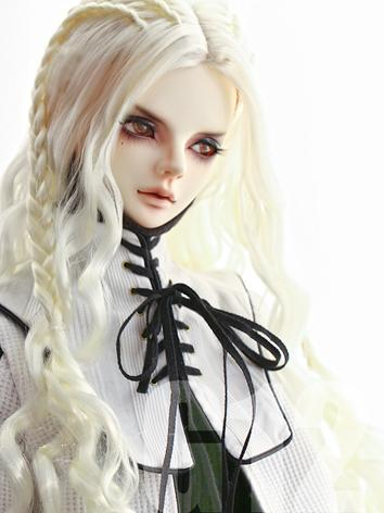 BJD Wig 8-9inch Boy/Girl Wig White Long Hair G12 for SD Size Ball-jointed Doll