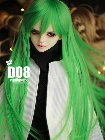 BJD Wig 8-9inch Boy/Girl Wig Green Long Hair D08SP for SD Size Ball-jointed Doll