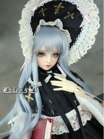 BJD Wig Girl Light Blue/Bla...