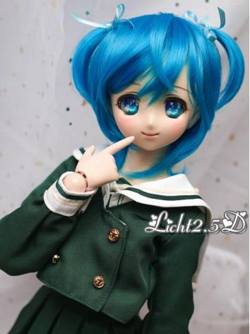 BJD Wig Girl Blue/Black Hai...