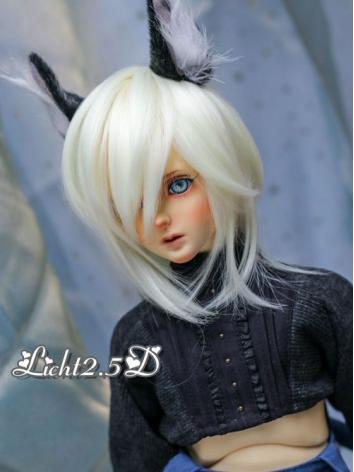 BJD Wig Girl Light Gold/Bla...