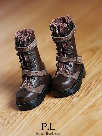 Bjd Boy Brown/Black High Boots shoes for SD/70cm Ball-jointed Doll