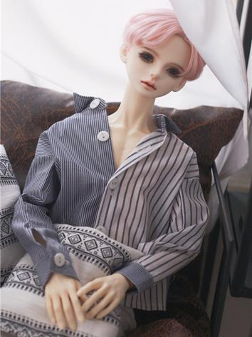 BJD Clothes Black/Gray Shirt for MSD/SD/SD17/70CM Ball-jointed Doll
