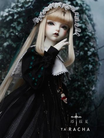 BJD Clothes Girl Black Suit Ta Rasha Outifit for MSD Size Ball-jointed Doll