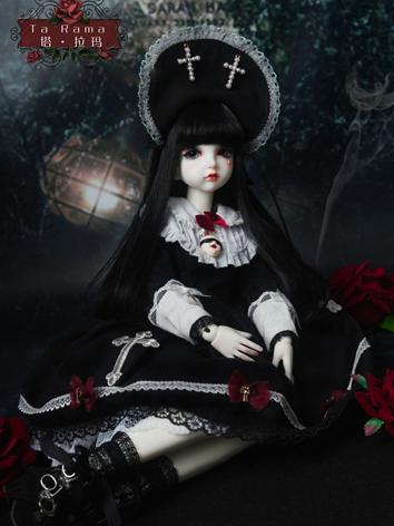 BJD Clothes Girl Black Suit Ta Rama Outifit for MSD Size Ball-jointed Doll