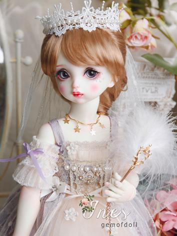 BJD Clothes Girl Light Purple Suit Ines Outifit for DSD Size Ball-jointed Doll