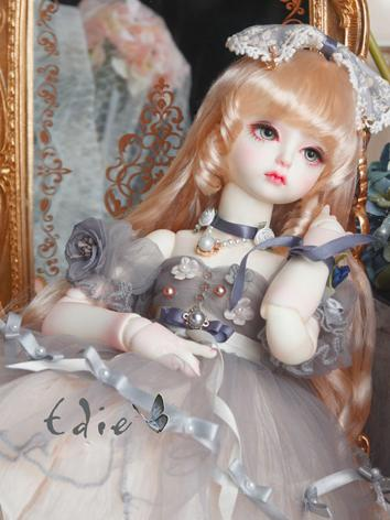 BJD Clothes Girl Grey Suit Ines Outifit for DSD Size Ball-jointed Doll